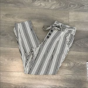 Free People Tie Waist Stripe Joggers